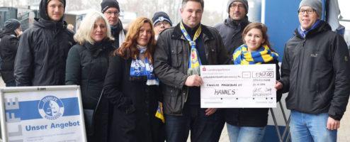 Spendenübergabe Hannes